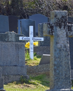 Grave of Caitlin Thomas, Laugharne