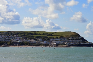 View of New Quay from Majoda
