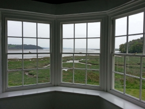 View from the gazebo, Laugharne Castle