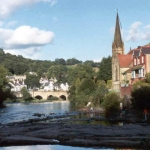 Discover Dylan Thomas's Rest of Wales - Image of church and river