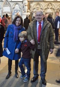 Hannah, Charlie and Trefor Ellis at Westminster Abbey - November 12th 2016.