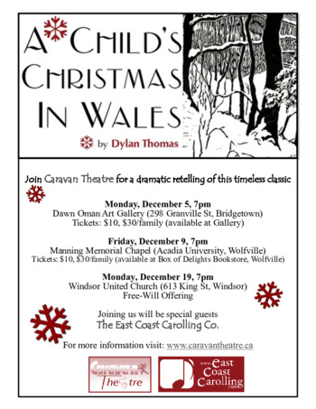 A Childs Christmas In Wales.A Child S Christmas In Wales Nova Scotia Canada Discover