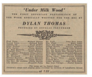 Under Milk Wood Anniversary Today >> Under Milk Wood In Pictures Discover Dylan Thomas